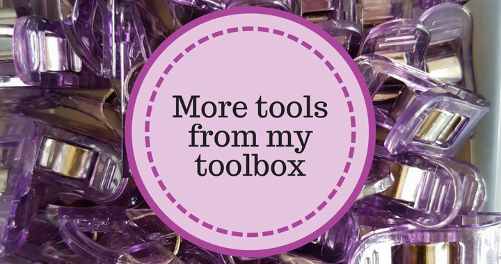 quilt tools in my toolbox