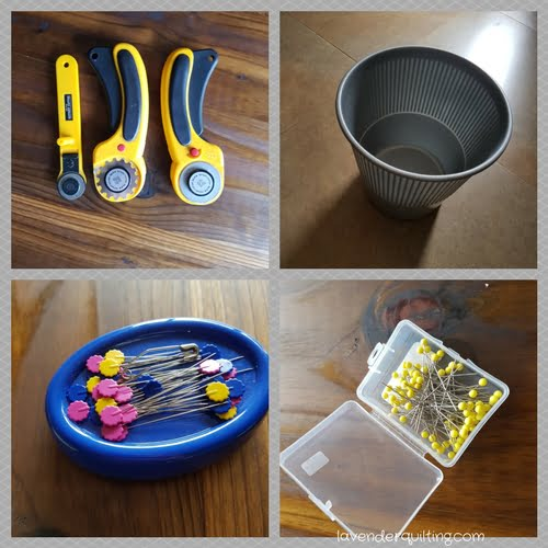 cutters, pins and bins