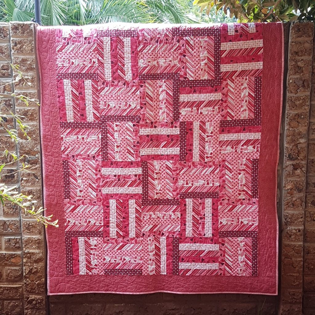 completed quilt in a day