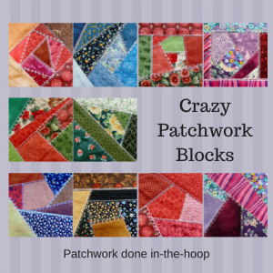 Crazy patchwork blocks product image