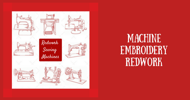 Machine embroidery redwork blog image