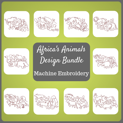 Africa's animals design bundle product image