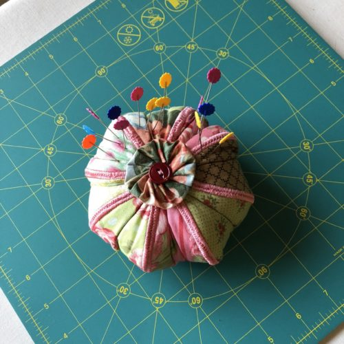 one pincushion with pins