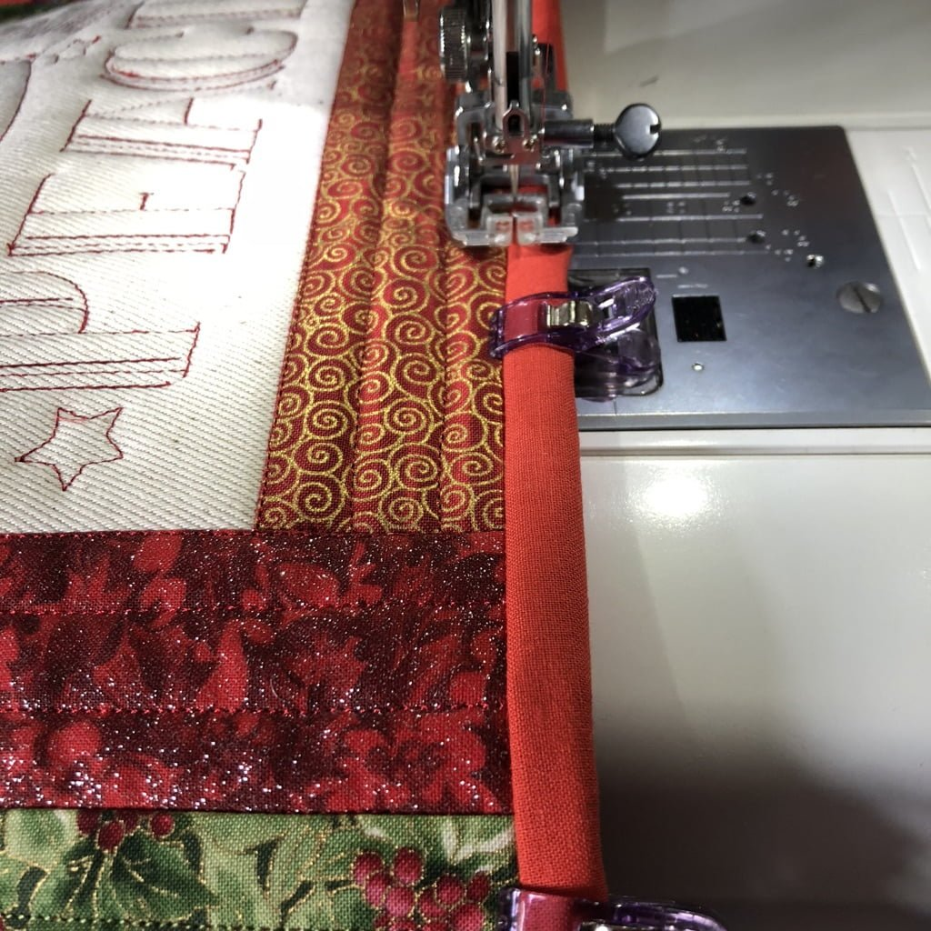 binding for the placemats for christmas
