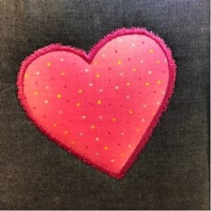 Appliqué satin stitches