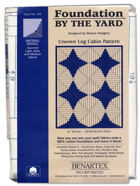 Benartex has a collection of preprinted foundation patterns