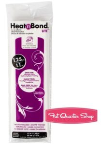 heat n bond or appliqué paper for your sewing kit