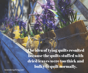 tying a quilt