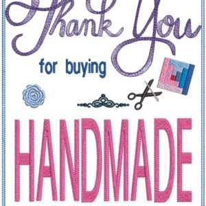 Thank you handmade sign