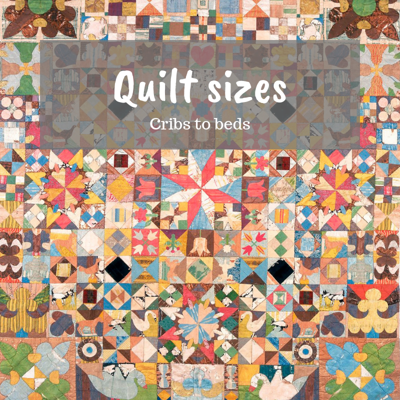 quilt sizes learn to quilt