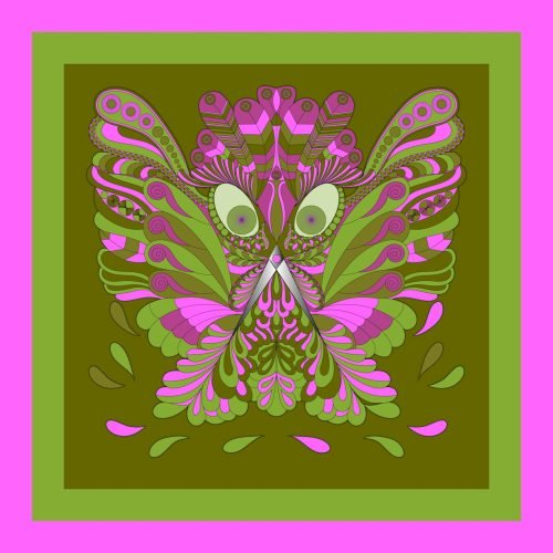 Scirros in spring green and pink