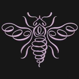 natural lines hornet embroidery design