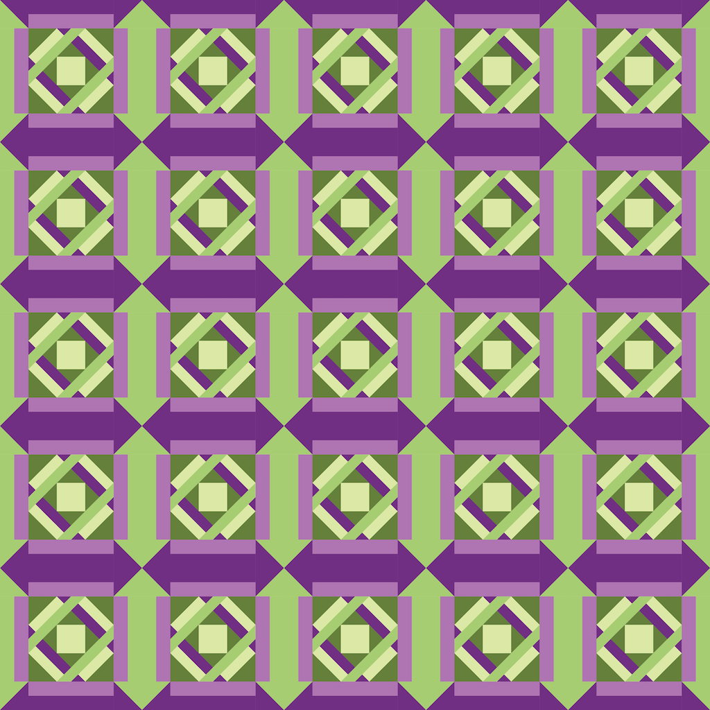 digitally printed quilt top